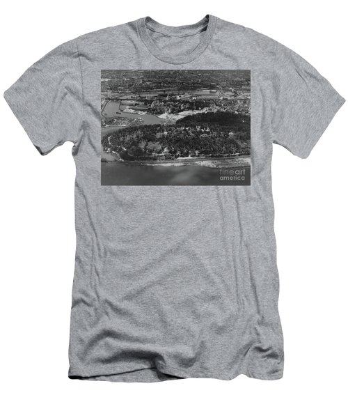 Inwood Hill Park Aerial, 1935 Men's T-Shirt (Slim Fit) by Cole Thompson