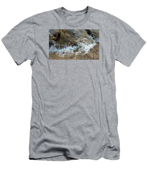 Iridescent Seafoam Necklace Men's T-Shirt (Slim Fit) by Amelia Racca
