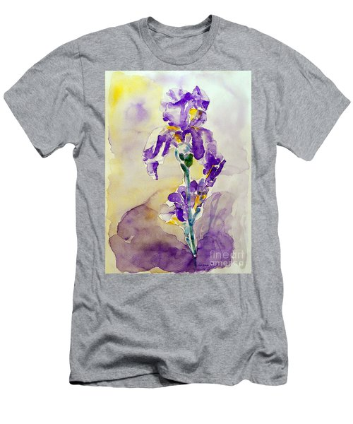 Men's T-Shirt (Slim Fit) featuring the painting Iris 2 by Jasna Dragun