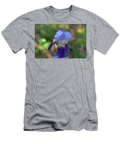 Iris Purple And Blue Men's T-Shirt (Athletic Fit)