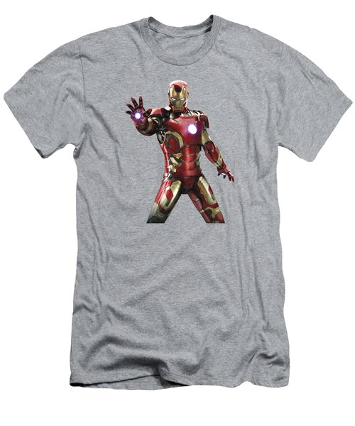 Iron Man Splash Super Hero Series Men's T-Shirt (Athletic Fit)