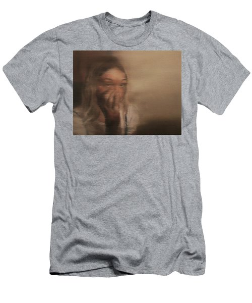 Men's T-Shirt (Slim Fit) featuring the painting Is Everyone Looking? by Cherise Foster