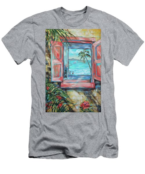 Island Bar Coral Men's T-Shirt (Athletic Fit)
