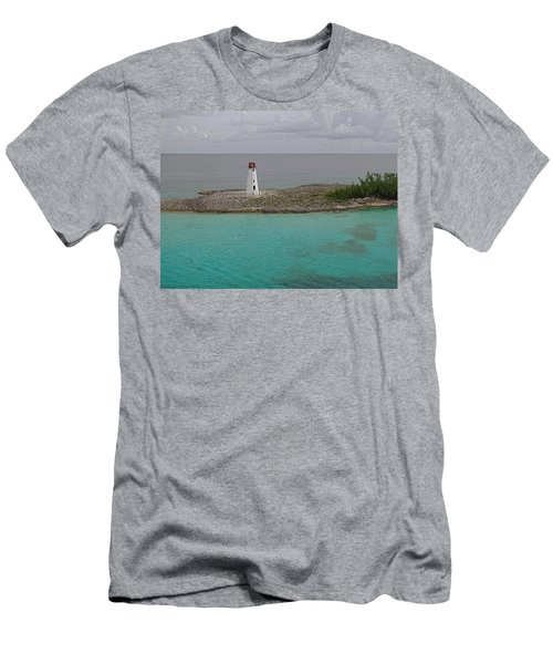 Island Lighthouse Men's T-Shirt (Athletic Fit)