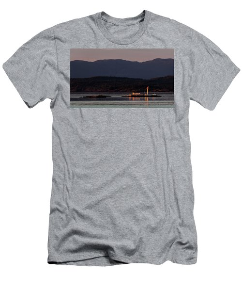 Isolated Lighthouse Men's T-Shirt (Athletic Fit)