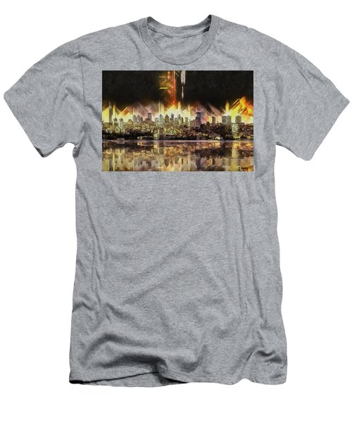 Men's T-Shirt (Slim Fit) featuring the painting Istanbul In My Mind by Kai Saarto