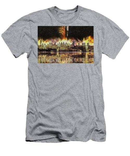 Istanbul In My Mind Men's T-Shirt (Slim Fit) by Kai Saarto