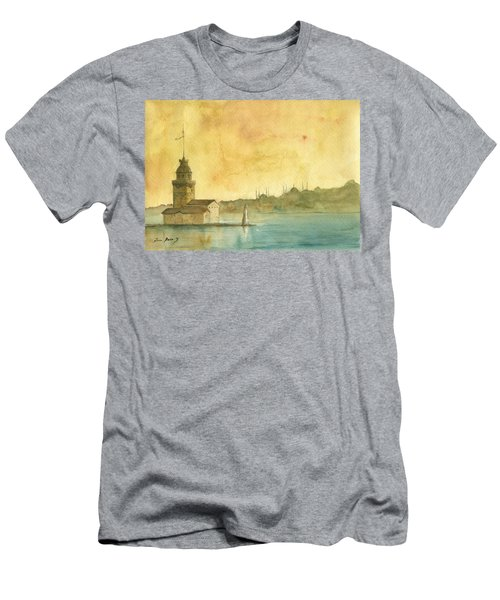 Istanbul Maiden Tower Men's T-Shirt (Athletic Fit)