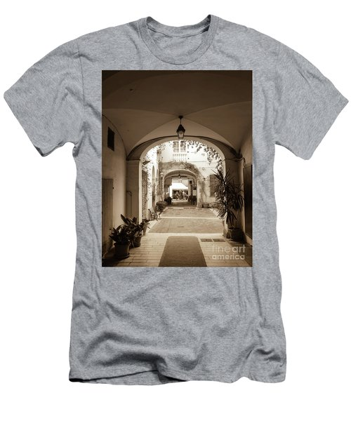Italian Courtyard  Men's T-Shirt (Athletic Fit)