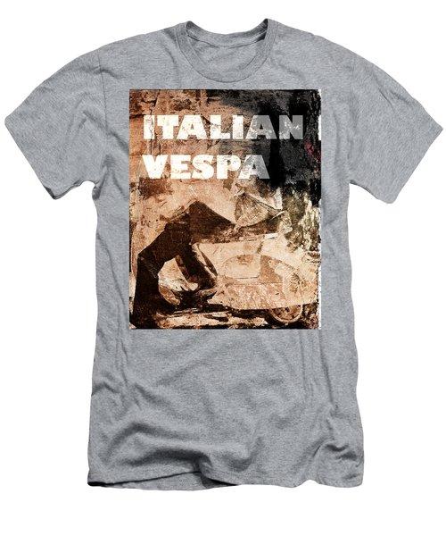 Italian Vespa Men's T-Shirt (Athletic Fit)