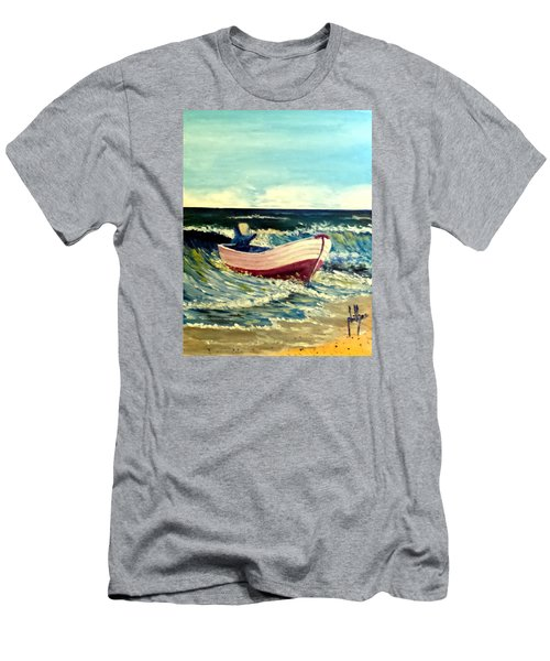 Men's T-Shirt (Slim Fit) featuring the painting It's Going To Pole And Turtle by Jim Phillips