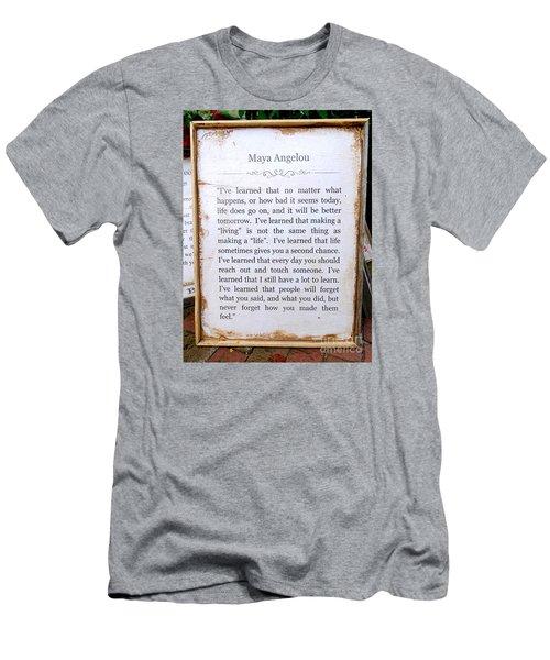 I've Learned Men's T-Shirt (Slim Fit) by Ed Weidman