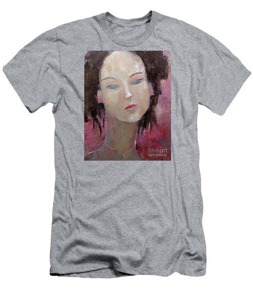 Jade Amethyst Men's T-Shirt (Slim Fit) by Becky Kim