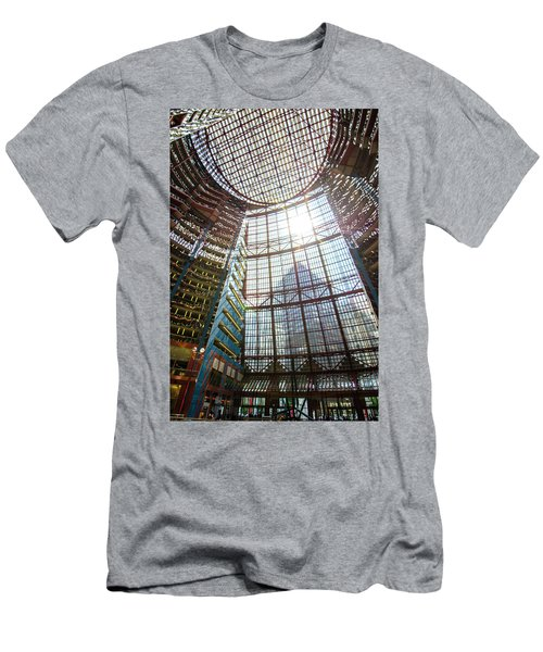 Men's T-Shirt (Slim Fit) featuring the photograph James R Thompson Center Interior II Chicago by Deborah Smolinske