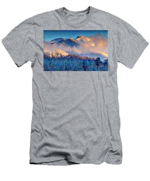 January Evening Truchas Peak Men's T-Shirt (Slim Fit) by Anastasia Savage Ealy