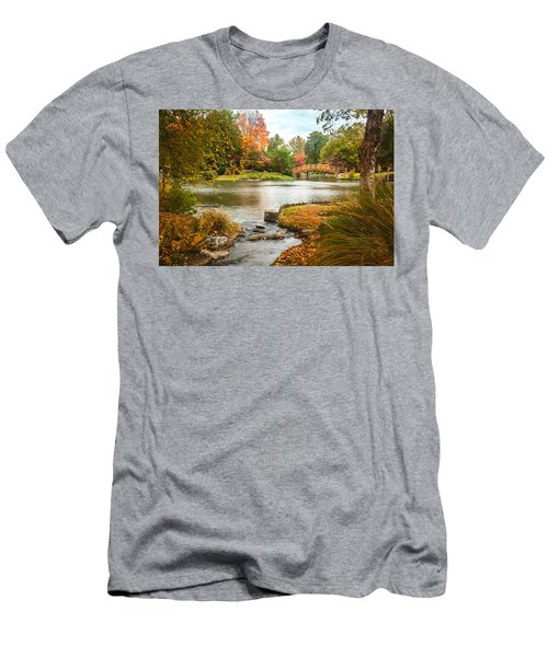 Japanese Garden Bridge Fall Men's T-Shirt (Athletic Fit)