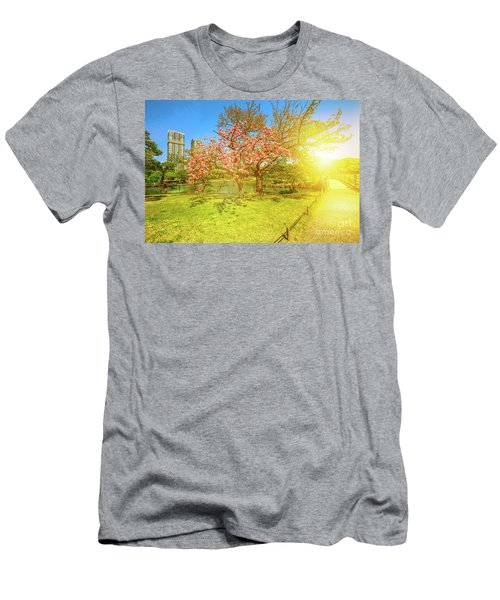Japanese Garden Cherry Blossom Men's T-Shirt (Athletic Fit)