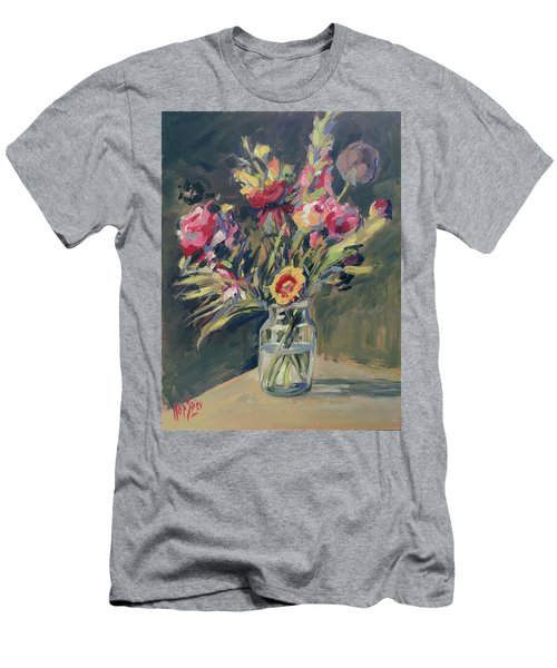 Jar Vase With Flowers Men's T-Shirt (Athletic Fit)