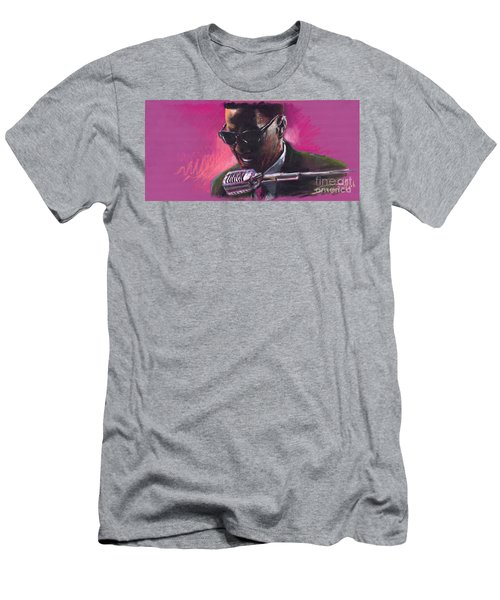 Jazz. Ray Charles.1. Men's T-Shirt (Athletic Fit)