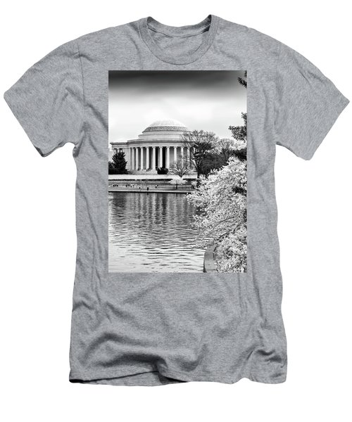 Jefferson Memorial Cherry Blosum Time Men's T-Shirt (Athletic Fit)