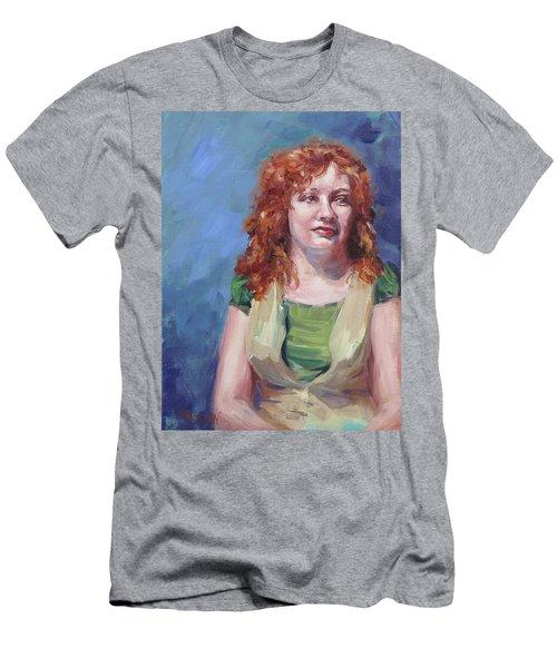 Jennifer Men's T-Shirt (Slim Fit) by Karen Ilari