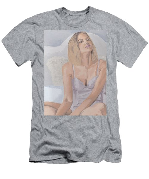 Jenny In White Men's T-Shirt (Athletic Fit)