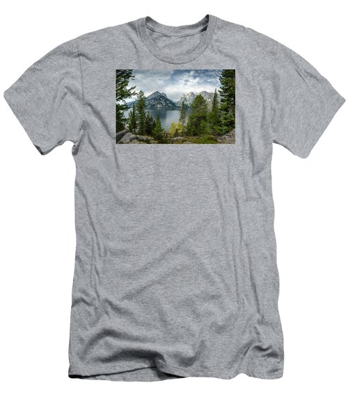 Jenny Lake Overlook Men's T-Shirt (Athletic Fit)