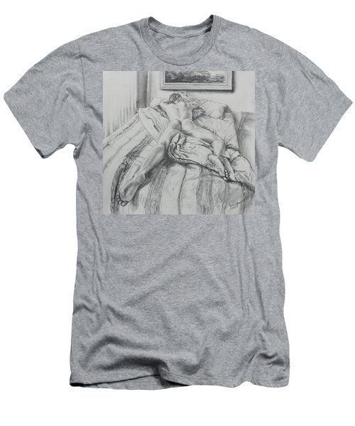 Jeremy On The Bed Men's T-Shirt (Athletic Fit)