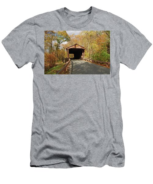 Jericho Covered Bridge Men's T-Shirt (Athletic Fit)