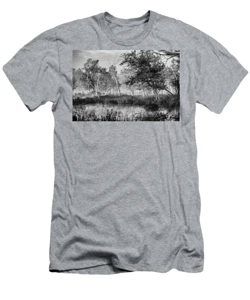 Jersey Pine Lands In Black - White Men's T-Shirt (Athletic Fit)