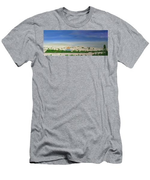 Jerusalem Skyline Men's T-Shirt (Athletic Fit)