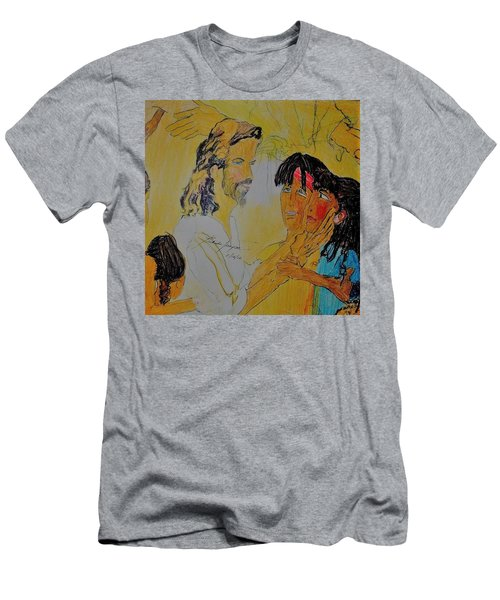 Jesus And The Children Men's T-Shirt (Athletic Fit)