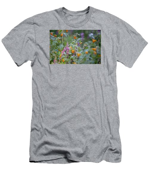 Jewel Weed With Dew Diamonds Men's T-Shirt (Slim Fit)