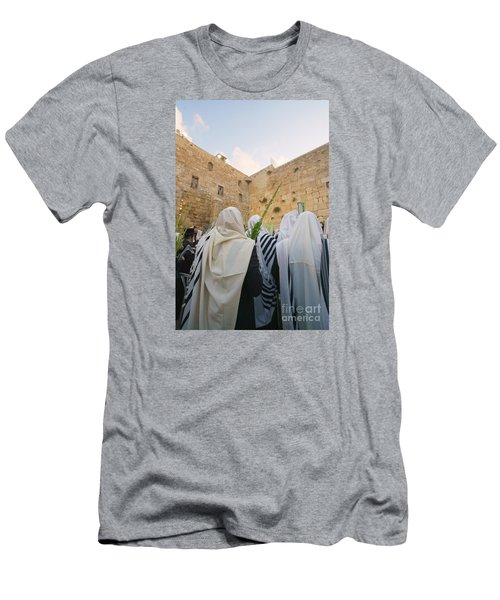 Jewish Sunrise Prayers At The Western Wall, Israel 9 Men's T-Shirt (Athletic Fit)