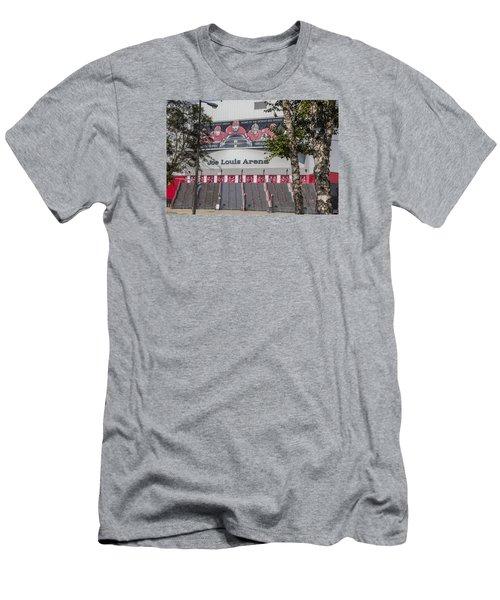 Joe Louis Arena And Trees Men's T-Shirt (Slim Fit) by John McGraw