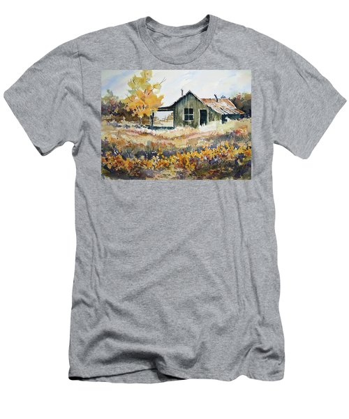 Men's T-Shirt (Athletic Fit) featuring the painting Joe's Place II by Sam Sidders