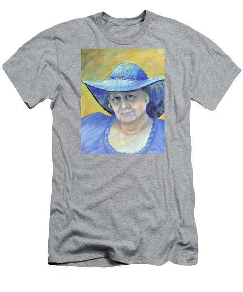 Men's T-Shirt (Slim Fit) featuring the painting Johanna by Luczay