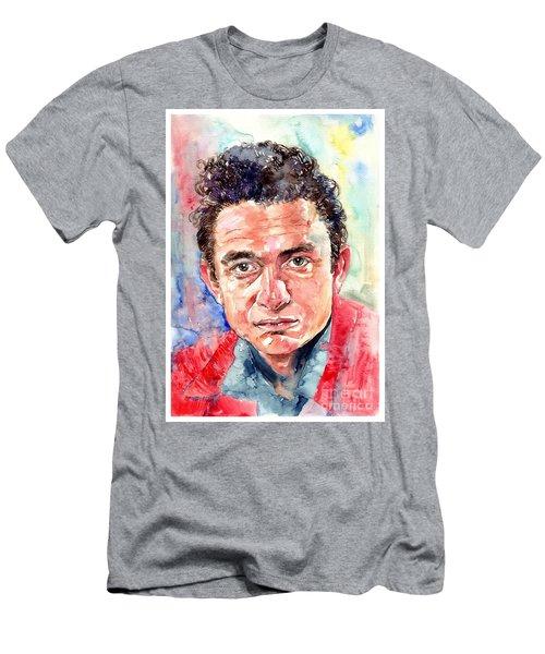 Johnny Cash Portrait Men's T-Shirt (Athletic Fit)