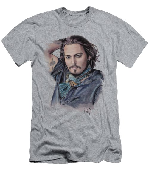 Johnny Depp Men's T-Shirt (Slim Fit) by Melanie D