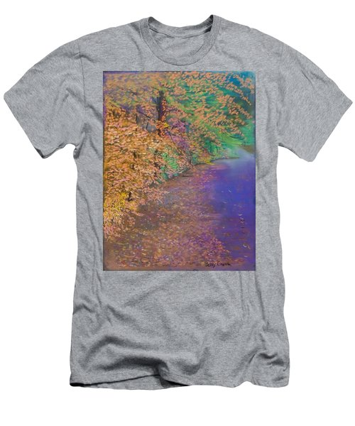 John's Pond In The Fall Men's T-Shirt (Athletic Fit)
