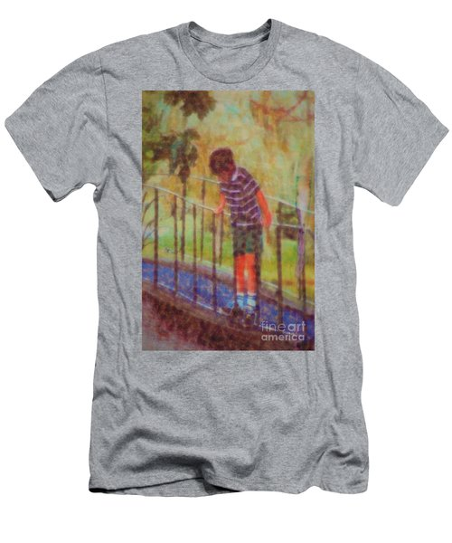 Men's T-Shirt (Athletic Fit) featuring the photograph John's Reflection by Donna Bentley