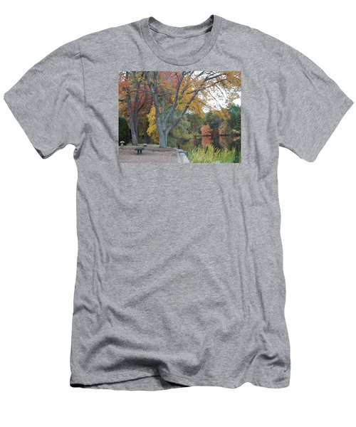 Johnson's Pond Rest Area Men's T-Shirt (Athletic Fit)