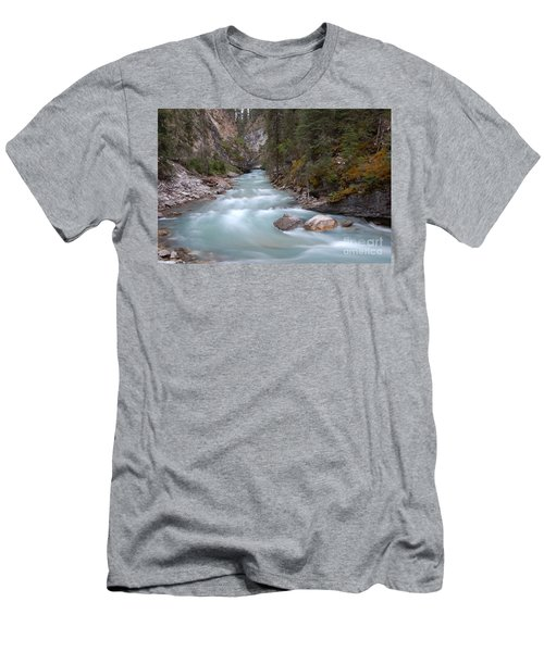 Men's T-Shirt (Slim Fit) featuring the photograph Johnston Canyon In Banff National Park by RicardMN Photography