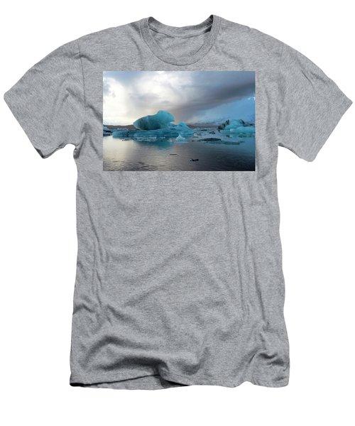 Men's T-Shirt (Athletic Fit) featuring the photograph Jokulsarlon, The Glacier Lagoon, Iceland 4 by Dubi Roman