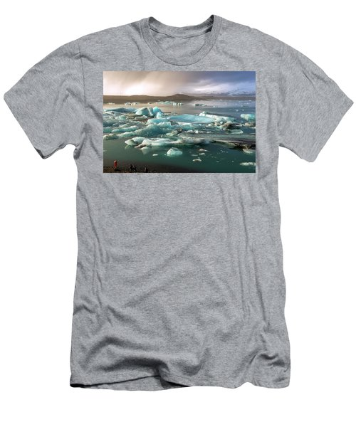 Jokulsarlon The Magnificent Glacier Lagoon, Iceland Men's T-Shirt (Athletic Fit)