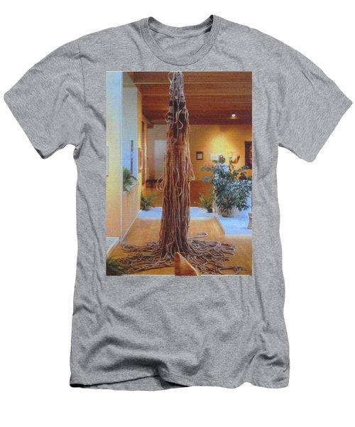 Men's T-Shirt (Slim Fit) featuring the sculpture Jungle Spirit by Bernard Goodman