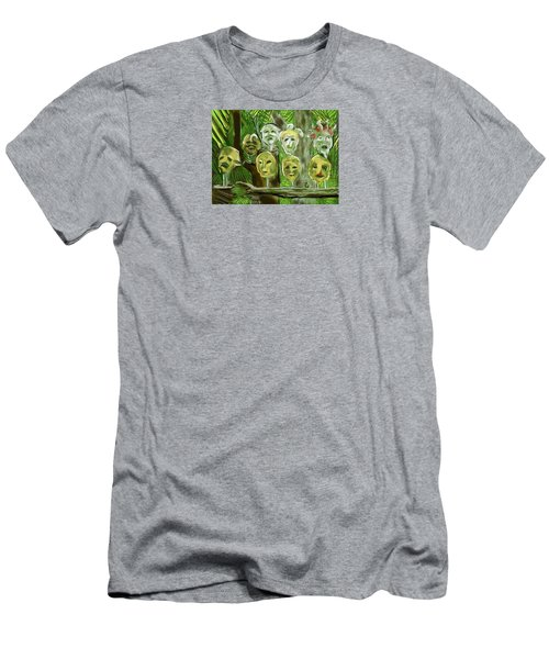Men's T-Shirt (Slim Fit) featuring the digital art Jungle Spirits by Jean Pacheco Ravinski
