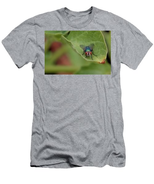 Men's T-Shirt (Slim Fit) featuring the photograph Just A Fly by Scott Holmes