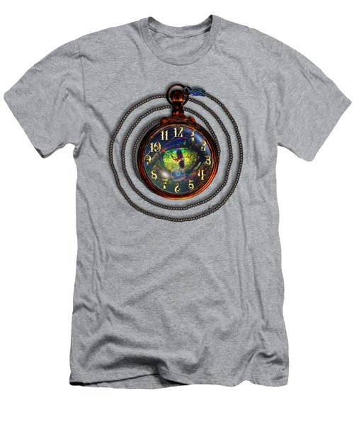 Just A Matter Of Time Men's T-Shirt (Slim Fit) by Iowan Stone-Flowers