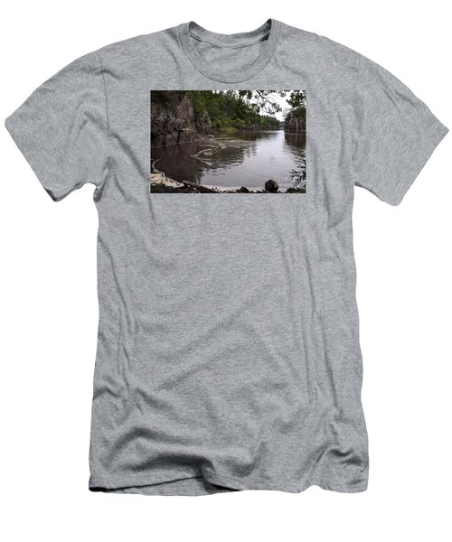Men's T-Shirt (Slim Fit) featuring the photograph Just Around The Bend by Sandra Updyke